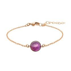 Bracelet acier rosé -...