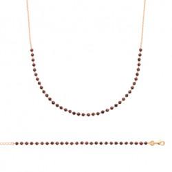 Bracelet plaqué or GRENAT