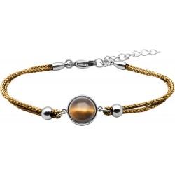 Bracelet acier et coton...