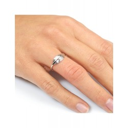 Bague or 9 carats PLUME OR...