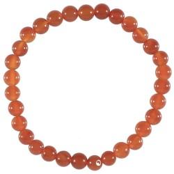 Bracelet fantaisie Agate rouge